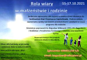 Rekolekcje dla rodzin w Częstochowie @  Częstochowa DŚW | Częstochowa | Śląskie | Polska